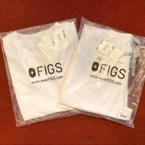 FIGS White Zamora Jogger & Casma Scrub Set XS